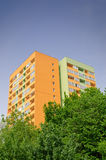 Insulated block of flats royalty free stock photography