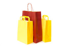 Insulated paper bags Royalty Free Stock Photos