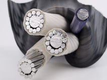 Insulated power cable royalty free stock photo