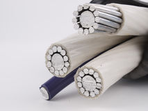 Insulated power cable stock images