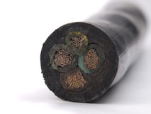 Insulated power  cable Stock Photo