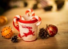 Insulated wool cloth mug Royalty Free Stock Photography