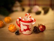 Insulated wool cloth mug Royalty Free Stock Photos