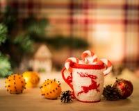 Insulated wool cloth mug Stock Photography