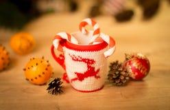 Insulated wool cloth mug Stock Images