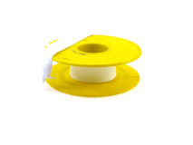 Insulating sanitary tape in the yellow coil Royalty Free Stock Image