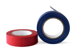 Insulating tape rolls Stock Images