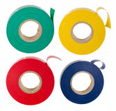Insulating tape set Royalty Free Stock Images