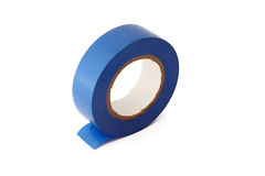 Insulating tape on a white background. Insulating tape isolated on a white background Royalty Free Stock Photos