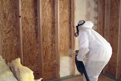 Insulation Contractor royalty free stock photography
