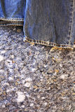 Insulation-Sustainable living. Denim insulation is a environmentally friendly product for sustainable living construction Stock Images