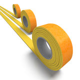 Insulation tape trio Royalty Free Stock Photography