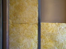 Insulation in wall Royalty Free Stock Images
