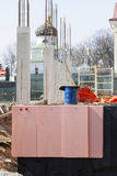 Insulation and waterproofing of the building foundation royalty free stock images