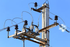 Insulator power lines Royalty Free Stock Photography