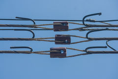 Insulators for high voltage. Royalty Free Stock Photography