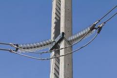 Insulators polarity protection. Glass insulators polarity protection.115 Kv Stock Photo