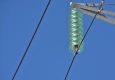 Insulators power lines. Stock Photos