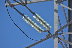 Insulators power lines. Stock Image