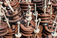 Insulators for use in high voltage. Stock Photography