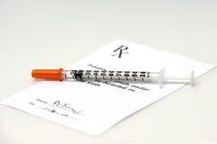 Insulin Prescription Royalty Free Stock Photos