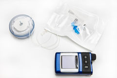 Insulin Pump, Infusion Set and Reservoir Royalty Free Stock Images