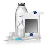 Insulina e contador da gota Fotografia de Stock