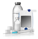 Insulina y contador del descenso Fotografía de archivo