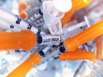 insulininjektionssprutor Fotografering för Bildbyråer