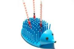 insulinowa jeż strzykawka Zdjęcia Stock
