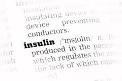 Insulinowa słownik definicja fotografia stock