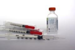 insulinowi cukrzyca zastrzyki Obraz Stock