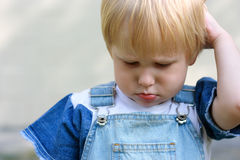 Insult. Offended child. Royalty Free Stock Images