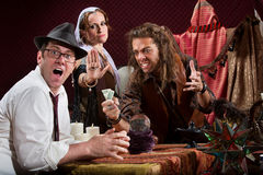Insulted Fortune Teller Royalty Free Stock Photography
