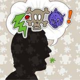 Insultos Foto de archivo libre de regalías