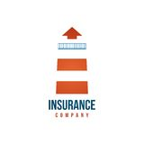 Insuramce company logo template with lighthouse Stock Images