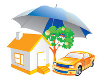 Insurance. Illustration of protection, insurance, cosiness