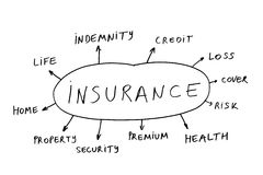 Insurance abstract Stock Image