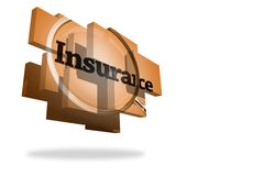 Insurance on abstract screen Royalty Free Stock Photography