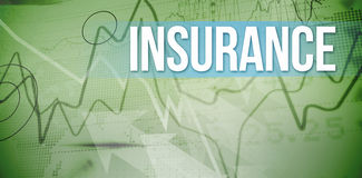 Insurance against stocks and shares on black background Royalty Free Stock Photography