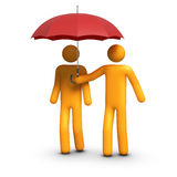 Insurance Agent. 3D rendered stick figure Insurance agent protection Royalty Free Stock Photo