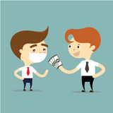 Insurance agent give money for businessman who are sick vector Royalty Free Stock Images