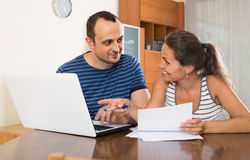 Insurance agent helping client to choose the product Stock Photos