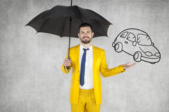 Insurance agent insure your car Stock Photos