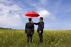 The insurance agent protection Stock Image