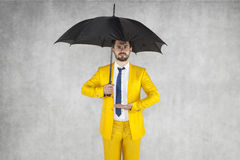 Insurance agent ready to protect your property Stock Photos