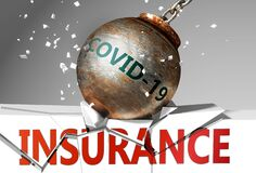 Free Insurance And Coronavirus, Symbolized By The Virus Destroying Word Insurance To Picture That Covid-19  Affects Insurance And Leads Stock Photography - 178098592