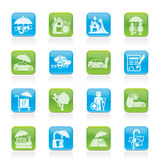 Insurance And Risk Icons Royalty Free Stock Photography