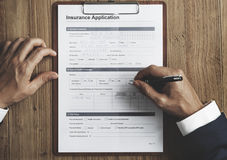 Insurance Application Risk Management Safety Concept Stock Photography