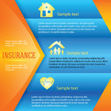 Insurance-background-page-leaflet-advertisement Royalty Free Stock Image